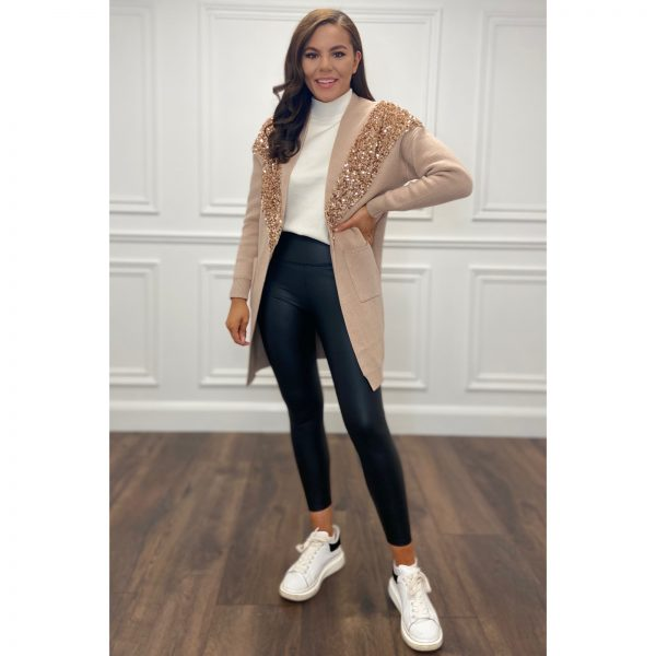 Camel Sequin Cardigan, 75 euro , AT7081 , free size